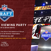 2017 Redskins NFL Draft Viewing Party Hosted by Clinton Portis