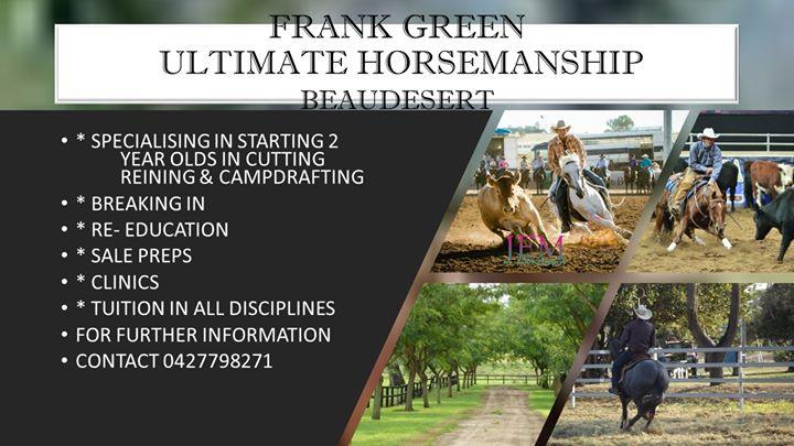 Frank Green Horsemanship Clinic