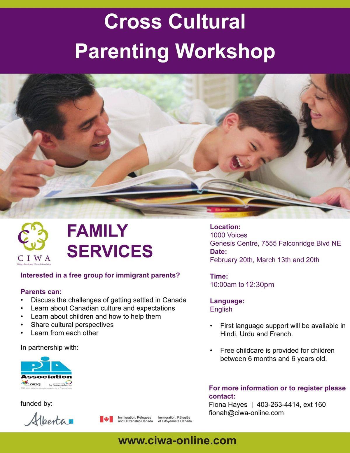 Cross Cultural Parenting Workshop