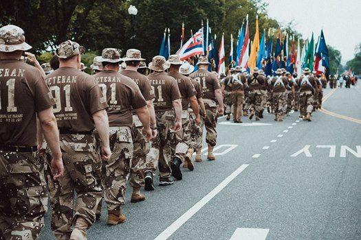 Desert Storm Veterans Marching in D.C. Memorial Day Parade