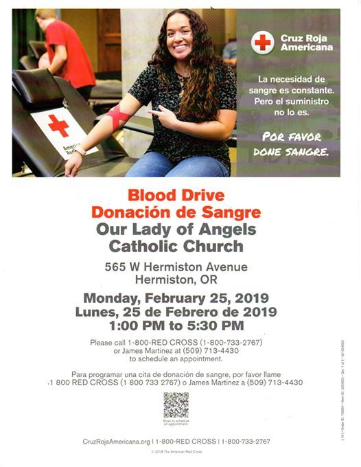 Blood Drive - Donación de Sangre at Our Lady of Angels