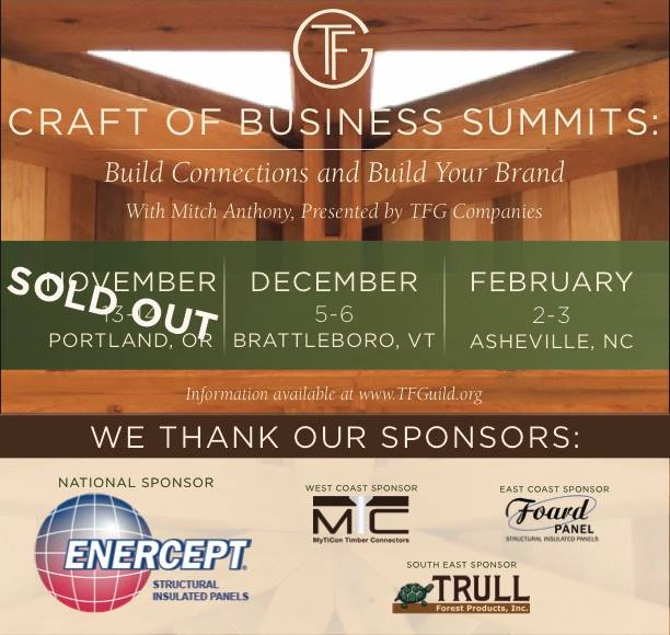TFG Craft of Business Summit - Asheville NC