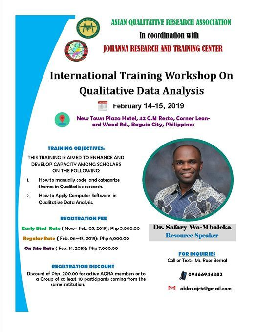 International Training Workshop on Qualitative Data Analysis