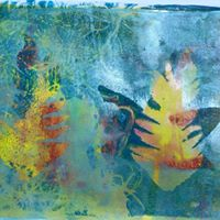 Mono printing with Gelli plate