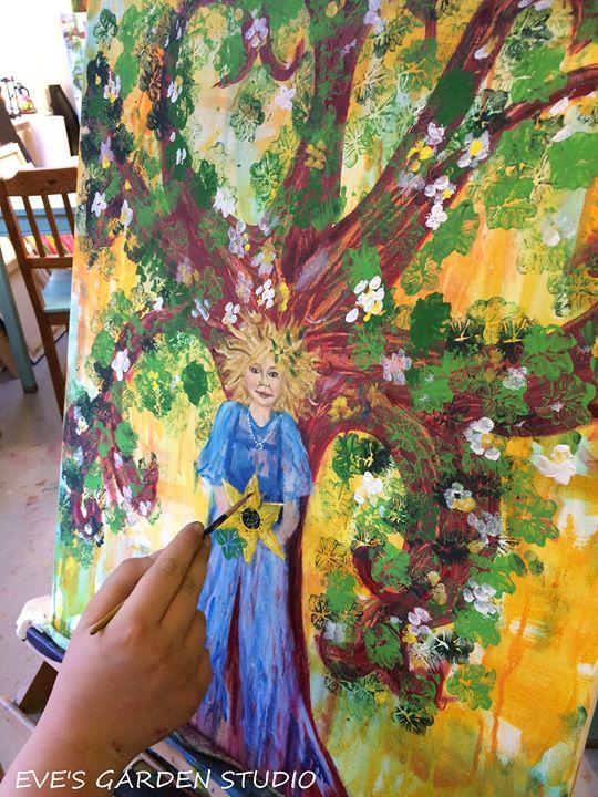 Summer Tree GoddessGreenman -A Painting Journey