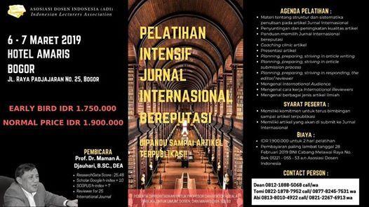 Pelatihan Intensif Jurnal Internasional Bereputasi