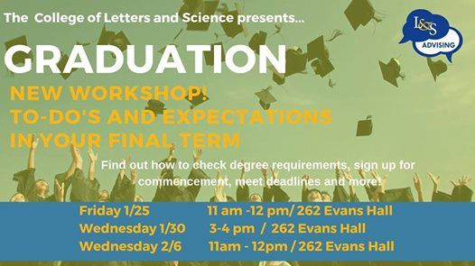 Graduation To Dos & Expectations in your Final Term