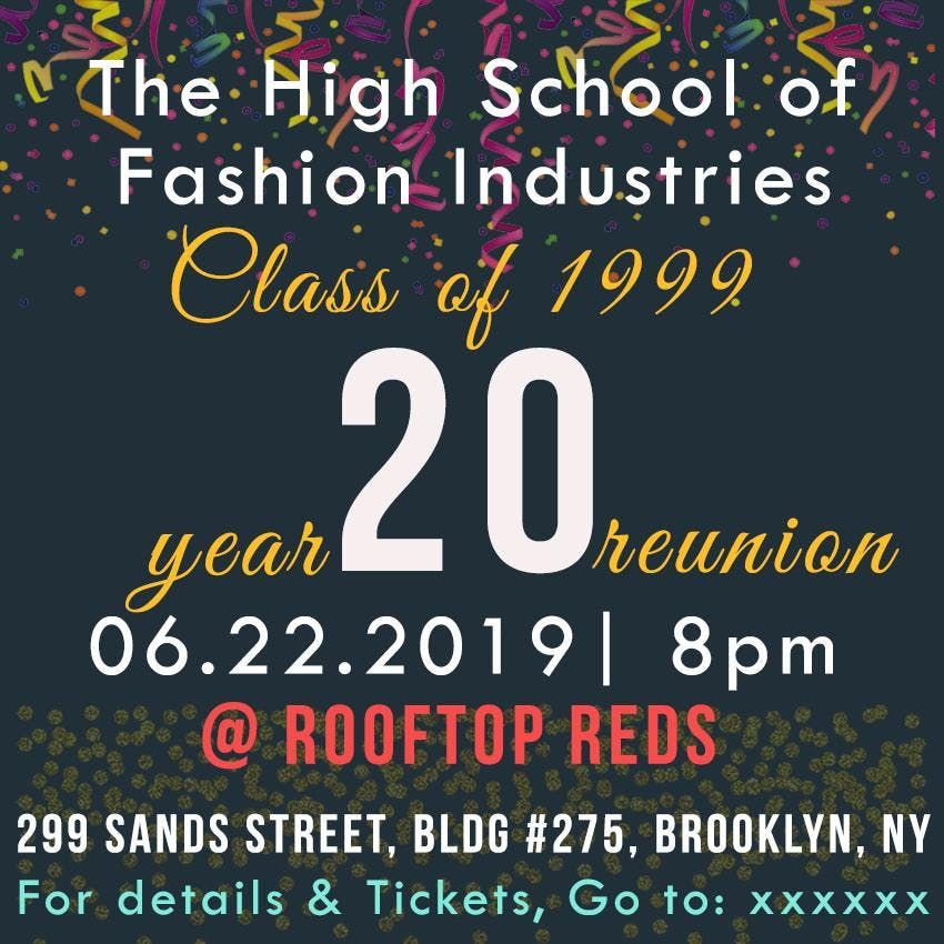 The High School of Fashion Industries Class of 1999 Reunion