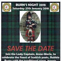 Burns Night - Saturday 27th January 2018