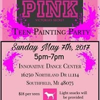 PINK Teen Paint Party