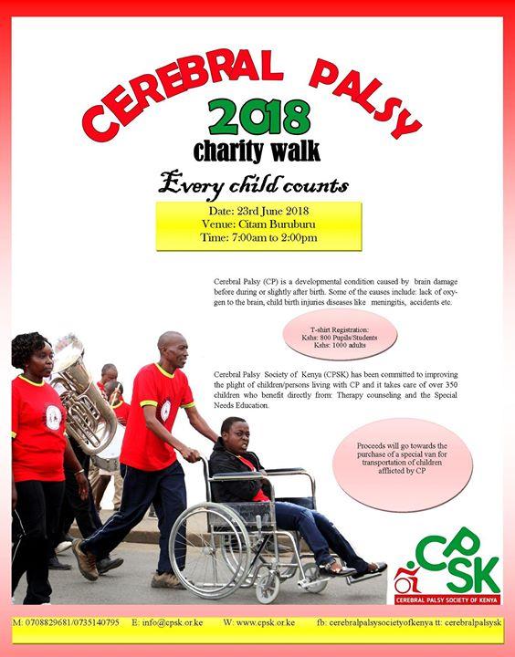 The CPSK Cerebral Palsy 2018 Charity Walk