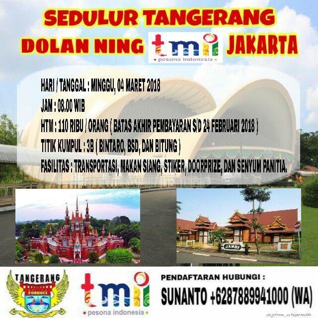 Koci Tangerang Dolan Ning Tmii At Taman Mini Indonesia Indah Jakarta