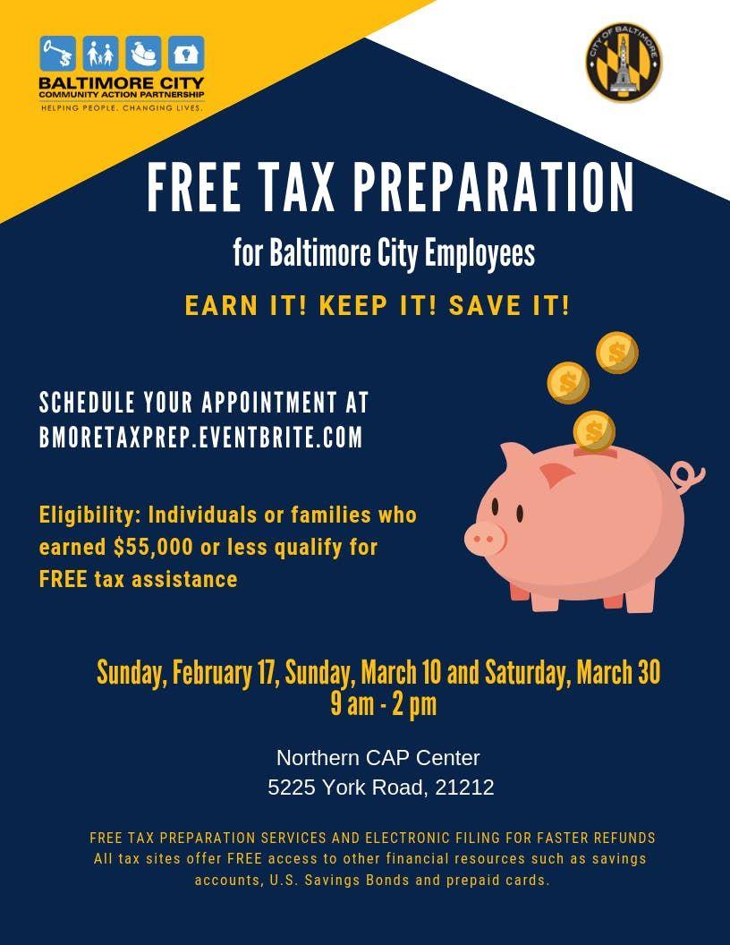 Baltimore City Employee Free Tax Preparation