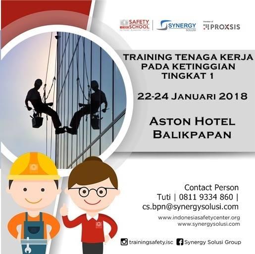 Training Tenaga Kerja Pada Ketinggian Tingkat 1 22-24 Jan 2018