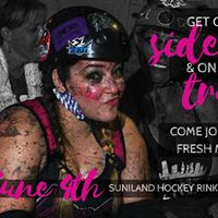Get off the sidelines Join Miami Roller Derby.