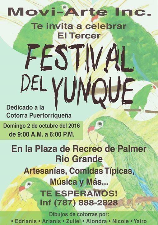 Tercer festival del yunque at plaza de palmer en rio for Rio grande arts and crafts festival 2016