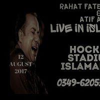Rahat Fateh Ali Khan &amp Atif Aslam live in Islamabad