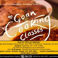 Goan Cooking Classes - Back by Popular Demand