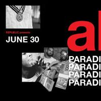 Republic &amp Smirnoff Present AKA Paradise with Special Guests
