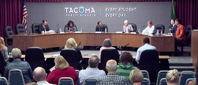 Tacoma Public School Board Meetings at Tacoma School
