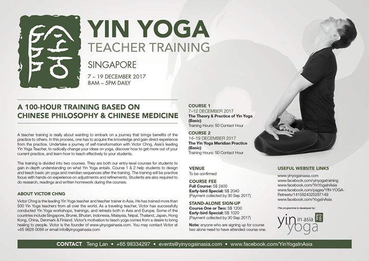 Yin Yoga Teacher Training (Meridian)