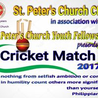 St. Peters Church Past Vs Present Youth Cricket Match 2017