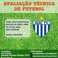 Avaliao Tcnica - Ava Futebol Clube em Uberlndia