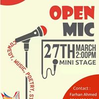 Open Mic - Stand UpComedyPoetryStory TellingSlam-Verse