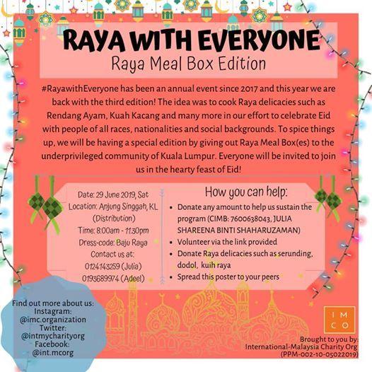 Raya with Everyone 2019 #RayaMealBoxEdition at Trouver des billets