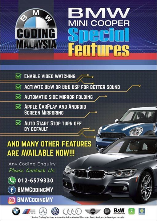 BMW/Mini Cooper/Mercedes-Benz Coding Services in JB for 2 days at