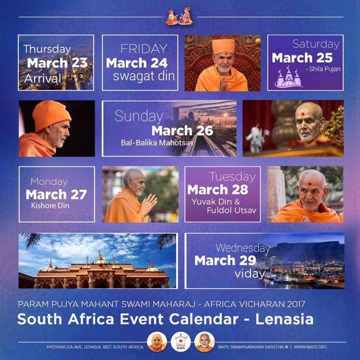 Satsang Tour Hh Mahant Swami Maharaj Guru Of Baps Swaminarayan At