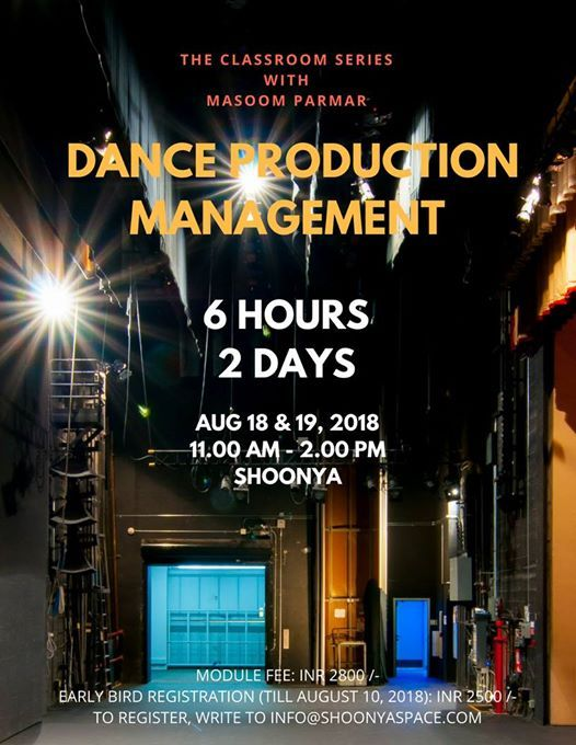 Classroom Series 1 Dance Production Management