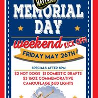 Memorial Day Weekend kick off