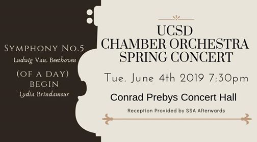 Chamber Orchestra Spring Concert at UC San Diego Conrad