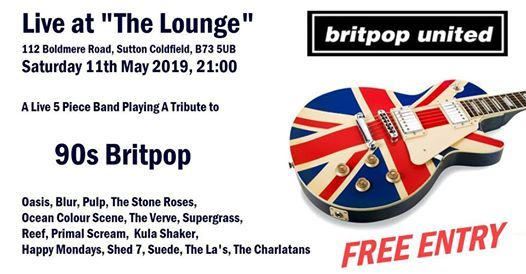 Britpop United, Live at The Lounge, Boldmere, Sutton Coldfield | Sutton