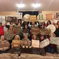 Wildside Winery Barrel Head Serving Tray &amp Sign Painting Party