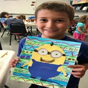 Minecraft Emojis and Minions Art Camp June 2018