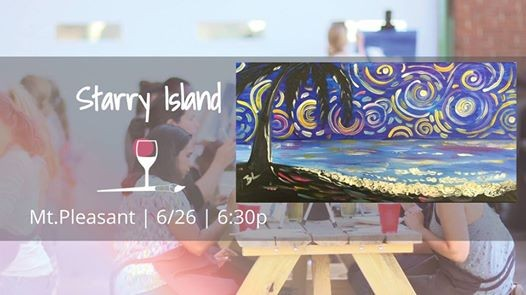 Paint Sip Class Starry Island At Wine Design Mount Pleasant