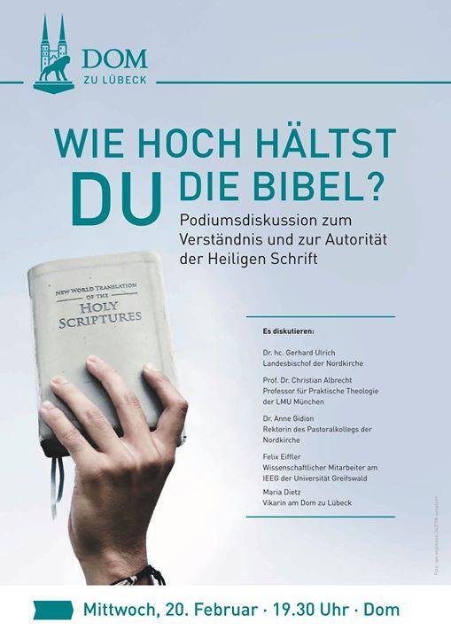 Podiumsdiskussion Wie hoch hltst du die Bibel