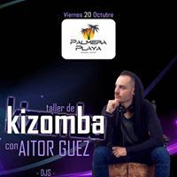 Taller de Kizomba con Aitor Guez en Palmera Playa