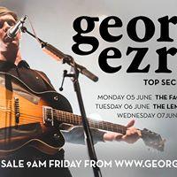 George Ezra - Top Secret Tour  SW Dates 5-7 June