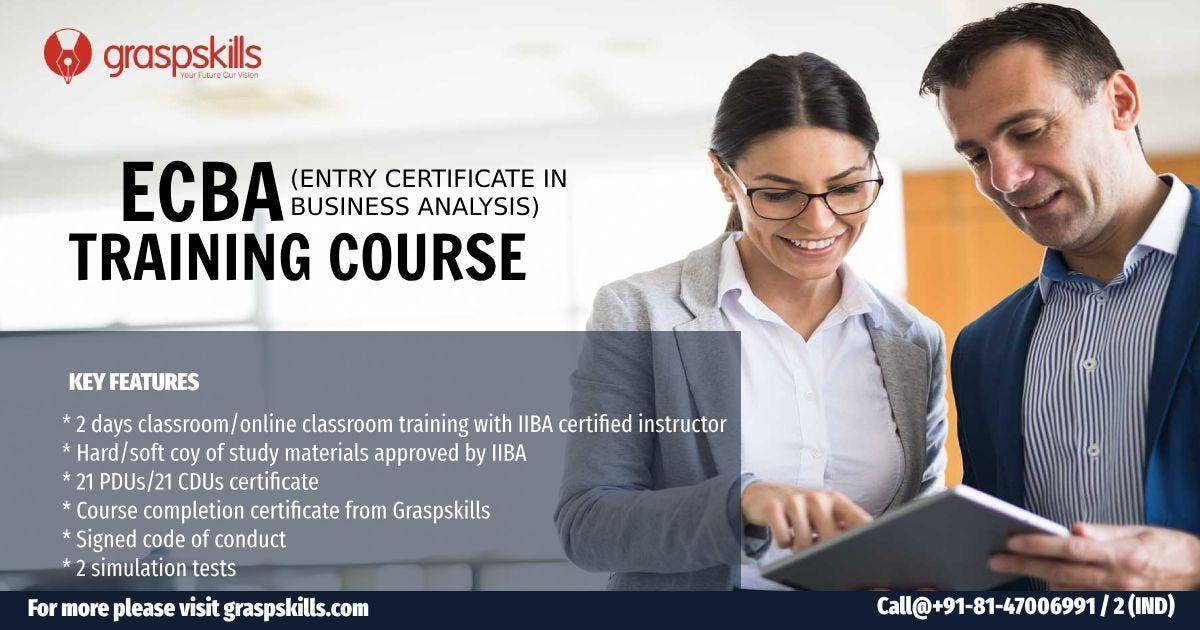 Entry Certificate in Business Analysis (ECBA) Training in BangaloreKarnataka