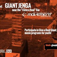 Giant Jenga  &quotI Give a Beat&quot Bar at Movement Festival