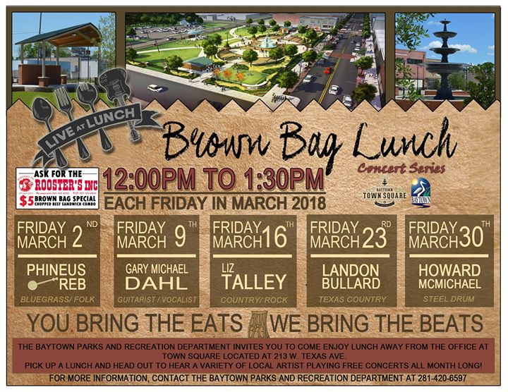 Brown Bag Lunch Concert Series @ Town Square | Baytown | Texas | United States
