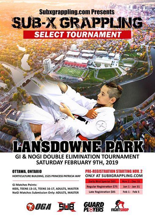 Sub-X Grappling Select Tournament- Lansdowne Park