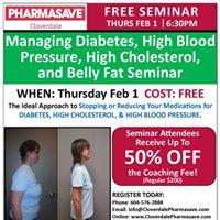 Managing Diabetes High BP High Cholesterol &amp Belly Fat Seminar