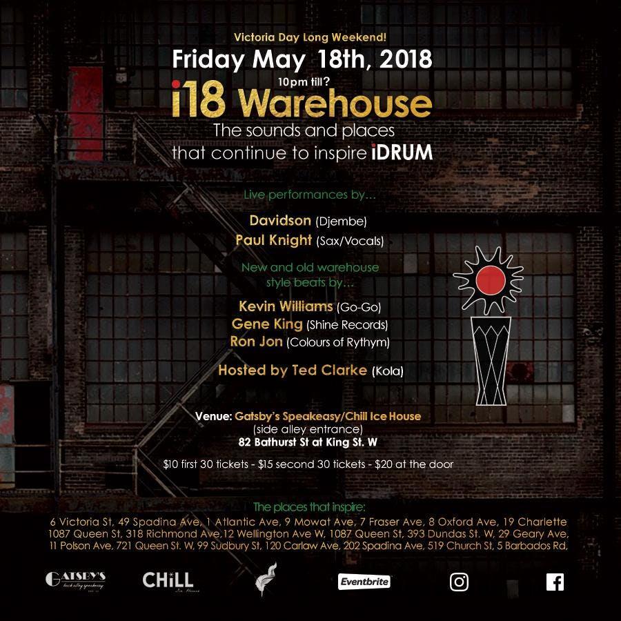 i18 warehouse idrum anniversary at gatsby s speakeasy chill ice