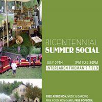 Bicentennial summer social