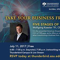 Global Speaker Series 5 Stages of Entrepreneurial Success