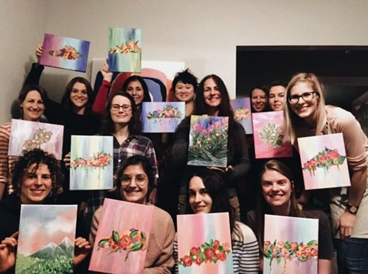 Girls Night In Painting Party  Southern Barker Louisville